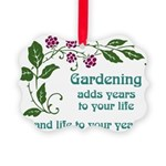 Gardening adds Years Picture Ornament