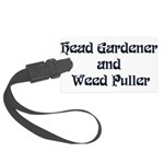 Head Gardener Large Luggage Tag