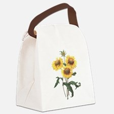 Redoute Sunflowers Canvas Lunch Bag