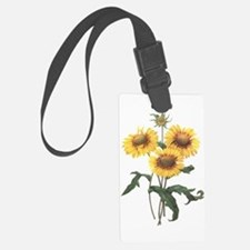 Redoute Sunflowers Luggage Tag