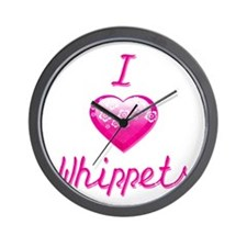 I Love/Heart Whippets Wall Clock