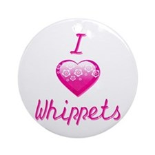 I Love/Heart Whippets Ornament (Round)