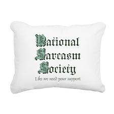 National Sarcasm Society Rectangular Canvas Pillow