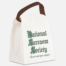 National Sarcasm Society Canvas Lunch Bag