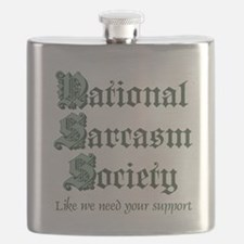 National Sarcasm Society Flask