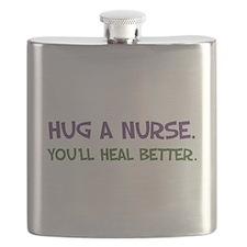 Hug a Nurse Flask