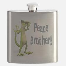 Peace Lizard Flask