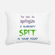 Too Late to Apologize Rectangular Canvas Pillow
