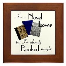 Novel Lover Framed Tile