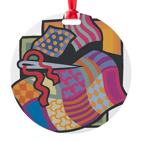 Quilting Round Ornament