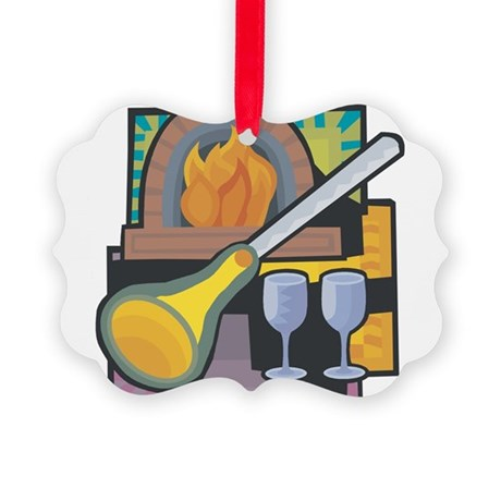 Glass Blowing Picture Ornament