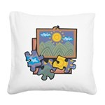 Jigsaw Puzzle Square Canvas Pillow