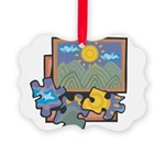 Jigsaw Puzzle Picture Ornament