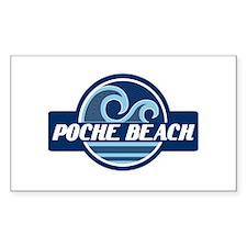 Poche Beach Surfer Pride Decal