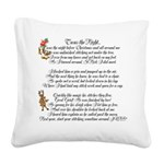 Twas the Night Square Canvas Pillow