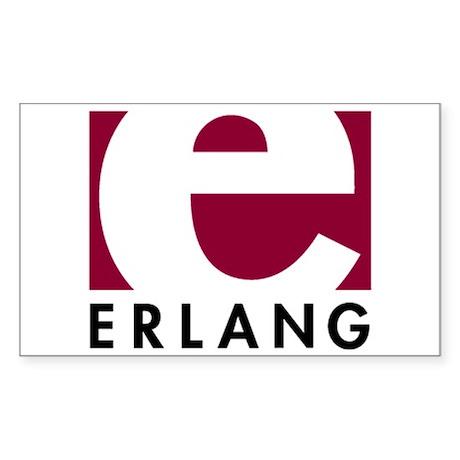 Erlang Logo Sticker (Rectangle)