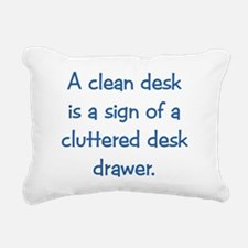 Clean Desk Rectangular Canvas Pillow