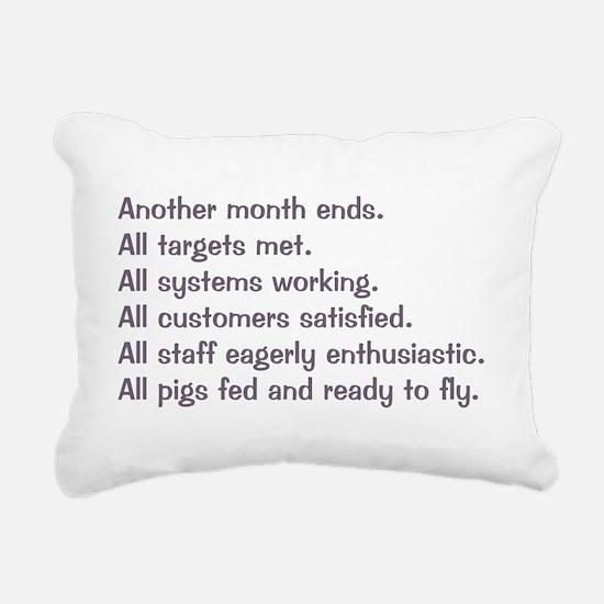 All Targets Met Rectangular Canvas Pillow