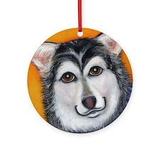 Malamute Siberian Husky Ornament (Round)