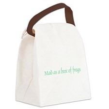 Mad as a Box of Frogs Canvas Lunch Bag