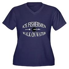 Walk on water Women's Plus Size V-Neck Dark T-Shir