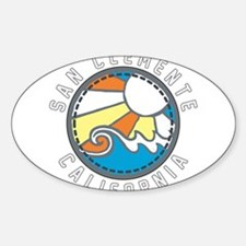 San Clemente Wave Badge Decal