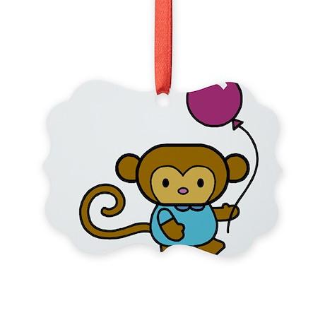 Bobo Monkey Picture Ornament