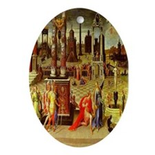 Augustus & The Sibyl Oval Ornament