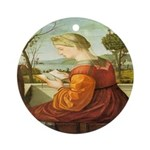 The Lady Reading Ornament (Round)