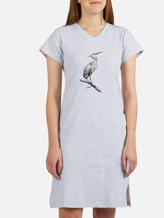 Great Blue Heron Women's Nightshirt