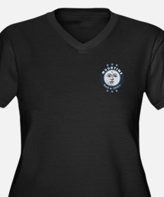 MoonTime Bar and Grill Women's Plus Size V-Neck Da