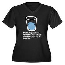 Optimist/Pessimist/Engineer Women's Plus Size V-Ne