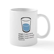 Optimist/Pessimist/Engineer Small Mug