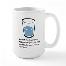 Optimist/Pessimist/Engineer Ceramic Mugs