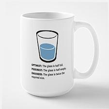 Optimist/Pessimist/Engineer Large Mug