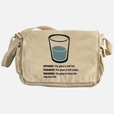 Optimist/Pessimist/Engineer Messenger Bag