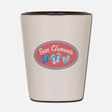 San Clemente Sandal Badge Shot Glass