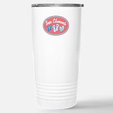 San Clemente Sandal Badge Travel Mug