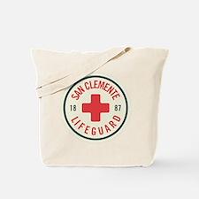 San Clemente Lifeguard Patch Tote Bag