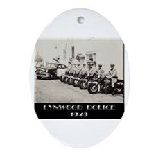 Lynwood Police 1949 Ornament (Oval)