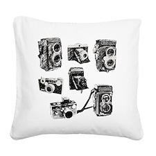 Vintage Cameras Square Canvas Pillow