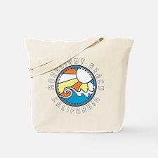 Moonlight Beach Wave Badge Tote Bag