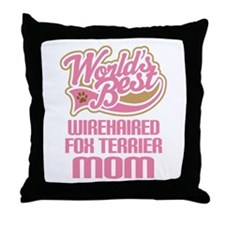 Wirehaired Fox Terrier Mom Throw Pillow