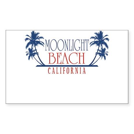 Moonlight Beach Regal Sticker (Rectangle)