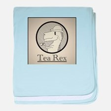 Tea Rex baby blanket