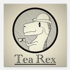 "Tea Rex Square Car Magnet 3"" x 3"""
