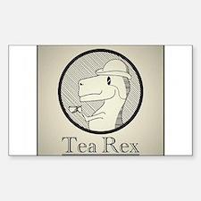 Tea Rex Sticker (Rectangle)