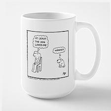 'At Least The Dog Loves Me' Mug