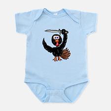 Ninja Turkey Infant Bodysuit