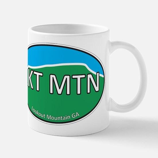 Lookout Mountain GA Green & Blue Euro Mug